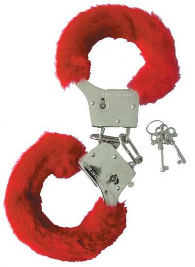 Erotic-Red Handcuffs