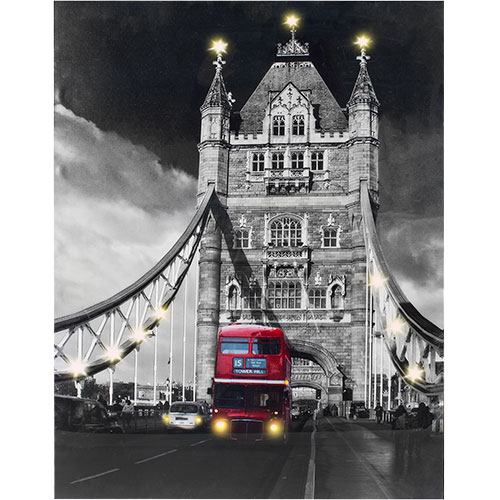 Tower Bridge<br> Painting with Led<br>Light in Linen Fabr