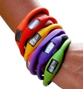 Cyfrowy zegarek<br>silikonowy